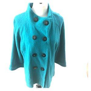Chico's turquoise wool jacket size 2